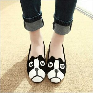 2015-in-the-spring-cartoon-dog-and-cat-female-cotton-shoes-wool-women-flat-shoes-round