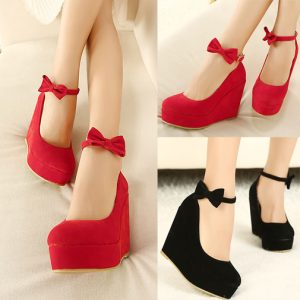 womens-2014-new-wedge-high-heels-platform-classic-pumps-faux-suede-bowknot-ankle-strap-cocktail-party